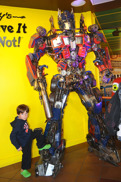 Aiden and Optimus Prime